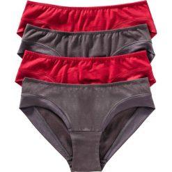 """Figi """"hipster"""" (4 pary) bonprix czerwono-szary. Czerwone figi bonprix, z satyny. Za 27,96 zł."""