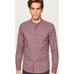 Koszula slim fit z bawełny organicznej - Bordowy. Czerwone koszule męskie slim marki Reserved, m, z tkaniny. Za 69,99 zł.