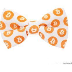 Muchy męskie: Mucha White Bitcoin