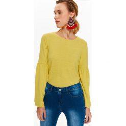 Swetry klasyczne damskie: DAMSKI SWETER Z MODNYMI RĘKAWAMI W KSZTAŁCIE KIELICHA