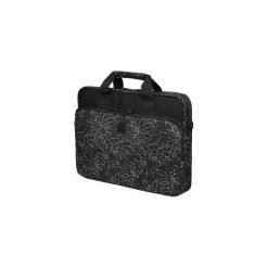 "Torba do laptopa Continent 15.6"" czarna (CC-032 BLACK PRINTS). Czarne torby na laptopa marki Continent, w paski, z materiału. Za 60,00 zł."