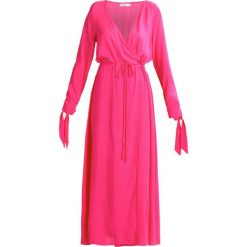 Długie sukienki: NAKD LONG SLEEVE COAT DRESS Długa sukienka magenta