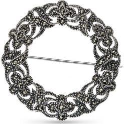 Piękna Srebrna Broszka - srebro 925, Markasyt. Szare broszki damskie W.KRUK, srebrne. Za 259,00 zł.