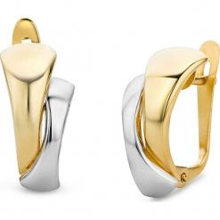 Złote kolczyki-wkrętki. Szare kolczyki damskie REVONI, złote. W wyprzedaży za 560,95 zł.