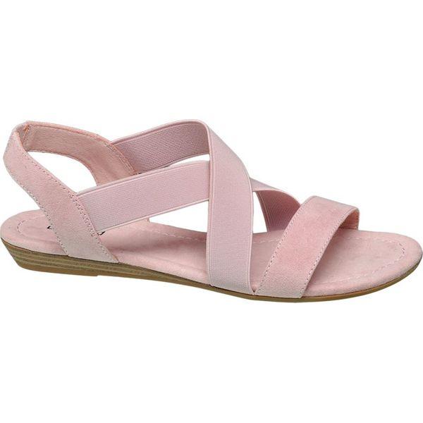 sandały damskie Graceland różowe Sandały damskie różowe