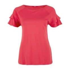 S.Oliver T-Shirt Damski 40 Czerwony. Czerwone t-shirty damskie S.Oliver, s, z okrągłym kołnierzem. W wyprzedaży za 59,00 zł.