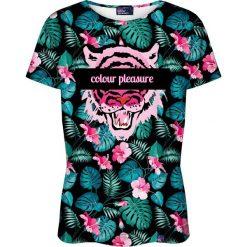 Colour Pleasure Koszulka damska CP-030 259 czarno-różowa r. M/L. Czarne bluzki damskie Colour pleasure, l. Za 70,35 zł.