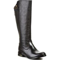 Oficerki CARINII - B1915 Catag Nero. Czarne buty zimowe damskie marki Carinii, z materiału, z okrągłym noskiem. W wyprzedaży za 319,00 zł.