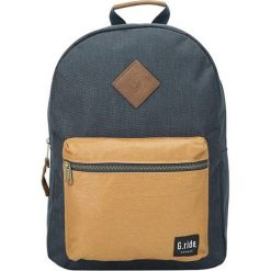 Plecaki męskie: Plecak w kolorze granatowo-beżowym – 30 x 41 x 13 cm