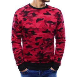 Bluzy męskie: Bluza męska camo bez kaptura czerwona (bx3365)