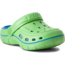 Klapki chłopięce: Klapki COQUI - Jumper 6353 Lime/Sea Blue