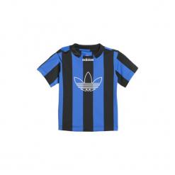 T-shirty z krótkim rękawem Dziecko  adidas  Koszulka Stripes. Niebieskie t-shirty chłopięce z krótkim rękawem marki S.Oliver, z nadrukiem, z bawełny. Za 79,95 zł.