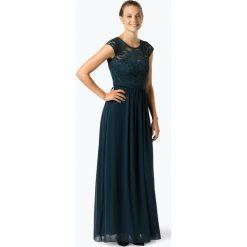 Marie Lund - Damska sukienka wieczorowa, niebieski. Niebieskie sukienki balowe Marie Lund, z haftami, z szyfonu. Za 749,95 zł.
