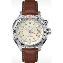 Zegarek Timex Męski T2P426 IQ Premium Series brązowy. Brązowe zegarki męskie Timex. Za 400,99 zł.