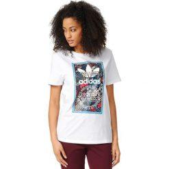 Adidas Originals Koszulka damska Tongue Label Boyfriend Tee biała r. 34 (AY6668). Brązowe topy sportowe damskie marki adidas Originals, z bawełny. Za 107,67 zł.