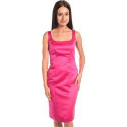 Różowa sukienka na ramiączkach BIALCON. Czerwone sukienki koktajlowe BIALCON, na sylwestra, na ramiączkach, midi. W wyprzedaży za 143,00 zł.
