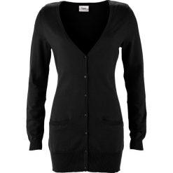Długi sweter rozpinany bonprix czarny. Szare kardigany damskie marki Reserved, l. Za 69,99 zł.