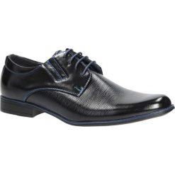 Czarne buty wizytowe sznurowane Casu MXC408. Czarne buty wizytowe męskie Casu, na sznurówki. Za 79,99 zł.