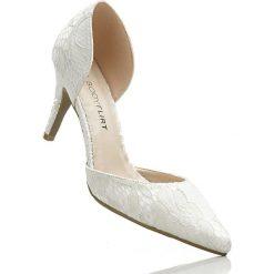Buty ślubne damskie: Czółenka bonprix kremowy