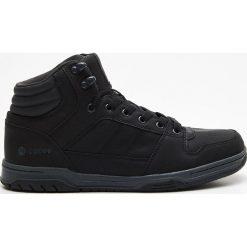Sportowe buty za kostkę - Czarny. Czarne halówki męskie marki Kazar, z nubiku, przed kolano, na wysokim obcasie. Za 139,99 zł.