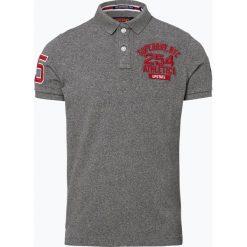 Superdry - Męska koszulka polo, szary. Szare koszulki polo Superdry, l, z aplikacjami, z bawełny. Za 229,95 zł.