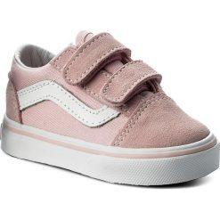 Tenisówki VANS - Old Skool V VN0A344KQ7K (Suede/Canvas) Chalk Pink. Szare trampki dziewczęce marki Vans, z gumy, na sznurówki. W wyprzedaży za 149,00 zł.