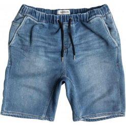 Quiksilver Spodenki Fonic Denim Fleece M Worn Wash S. Niebieskie spodenki jeansowe męskie marki Quiksilver, l, narciarskie. W wyprzedaży za 189,00 zł.
