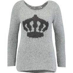 Swetry klasyczne damskie: Rich & Royal GREY PULLOVER  Sweter grey melange