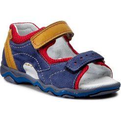 Sandały MIDO - 329 Granat/Żółty/2. Niebieskie sandały męskie skórzane Mido. W wyprzedaży za 99,00 zł.