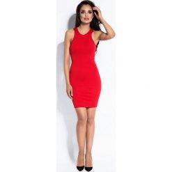 Czerwona Sukienka Mini Typu Bokserka. Białe sukienki mini marki BIALCON, na imprezę, w koronkowe wzory, z koronki, z kopertowym dekoltem, kopertowe. Za 149,90 zł.