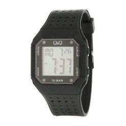 Biżuteria i zegarki męskie: Zegarek Q&Q Męski M158-001 Dual Time czarny