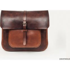 Torba skórzana listonoszka. Brązowe torby na ramię męskie marki Kazar, ze skóry, przez ramię, małe. Za 900,00 zł.
