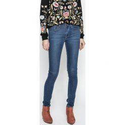 Levi's - Jeansy 711. Brązowe jeansy damskie Levi's®, z denimu. Za 369,90 zł.
