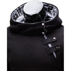 BLUZA MĘSKA Z KAPTUREM PACO - CZARNA/MORO. Czarne bluzy męskie rozpinane marki Ombre Clothing, m, moro, z bawełny, z kapturem. Za 69,00 zł.