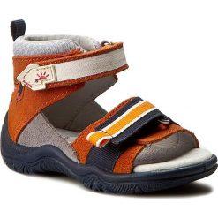 Sandały męskie skórzane: Sandały BARTEK – 61593/76G Kolorowy Pomarańczowy