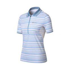Odlo Koszulka damska Polo shirt s/s 1/2 zip CROSS niebieska r. S (410391). Niebieskie bluzki asymetryczne Odlo, s, polo. Za 114,23 zł.