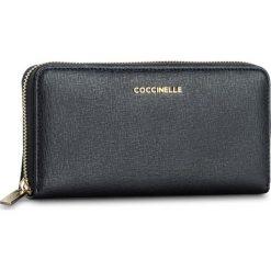 Duży Portfel Damski COCCINELLE - BW1 Metallic Saffiano E2 BW1 11 04 01 Bleu 011. Czarne portfele damskie marki Coccinelle. W wyprzedaży za 419,00 zł.