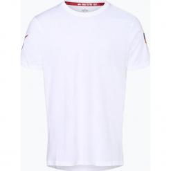 Alpha Industries - T-shirt męski, czarny. Czarne t-shirty męskie marki Alpha Industries, m, z aplikacjami. Za 129,95 zł.