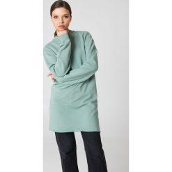 Bluzy damskie: NA-KD Basic Długa bluza basic - Green