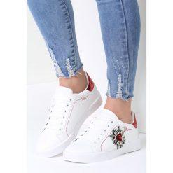 Biało-Czerwone Buty Sportowe Citrine. Czerwone buty sportowe damskie marki KALENJI, z gumy. Za 89,99 zł.