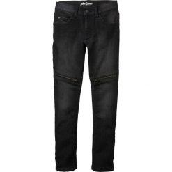 """Dżinsy ze stretchem Skinny Fit bonprix czarny """"stone"""". Czarne jeansy chłopięce bonprix. Za 89,99 zł."""