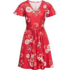 Sukienki: Sukienka w kwiaty bonprix czerwony w kwiaty