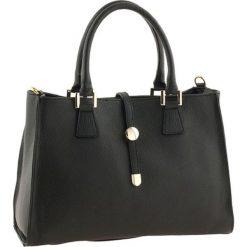 Torebki klasyczne damskie: Skórzana torebka w kolorze czarnym – 35 x 25 x 11 cm