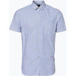 Koszule męskie na spinki: BOSS Casual – Koszula męska – Cattitude_1-short, niebieski