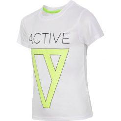 Bluzki dziewczęce: Koszulka treningowa dla dużych chłopców JTSM404 – biały