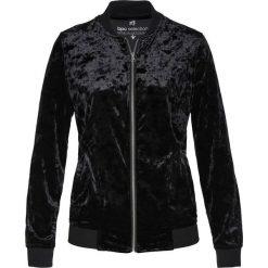 Bluza rozpinana aksamitna bonprix czarny. Czarne bluzy rozpinane damskie marki bonprix. Za 109,99 zł.