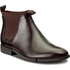 Sztyblety CLARKS - Daulton Up 261268807 Dark Brown Leather. Brązowe sztyblety męskie Clarks, z materiału. W wyprzedaży za 309,00 zł.