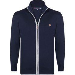Golfy męskie: Sweter rozpinany w kolorze granatowym