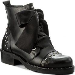 Botki EVA MINGE - Monica 2A 17JS1372267EF 101. Czarne buty zimowe damskie marki Eva Minge, ze skóry, na obcasie. W wyprzedaży za 349,00 zł.