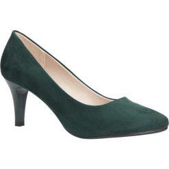 Zielone czółenka na niskim obcasie Sergio Leone 1377. Zielone buty ślubne damskie Sergio Leone, na niskim obcasie. Za 88,99 zł.